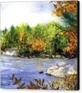Maine Fall Pond Canvas Print