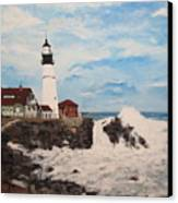 Maine Lighthouse Canvas Print by Marcia Crispino