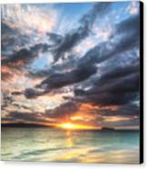 Makena Beach Maui Hawaii Sunset Canvas Print