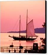 Malabar X Sailboat At Sunset Canvas Print