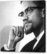 Malcolm X (1925-1965) Canvas Print by Granger