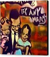 Malcolm X Fatherhood 2 Canvas Print by Tony B Conscious