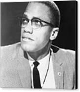 Malcolm X, Militant Black Muslim Civil Canvas Print by Everett