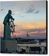 Man At The Wheel At Sunset Canvas Print by Matthew Green