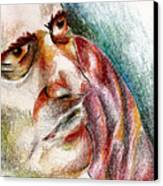 Man In Corner  Canvas Print