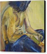 Man Reading Canvas Print