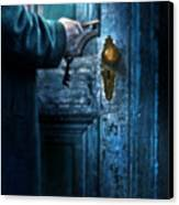 Man With Keys At Door Canvas Print