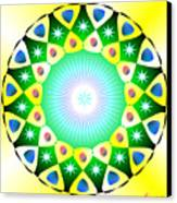 Mandala - Healing The Heart Canvas Print by Konstadina Sadoriniou - Adhen