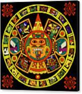 Mandala Azteca Canvas Print by Roberto Valdes Sanchez