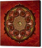 Mandala Flames Sp Canvas Print by Bedros Awak