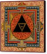 Mandala Kalichakre For Her Canvas Print
