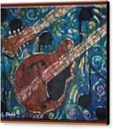 Mandolin - Bordered Canvas Print