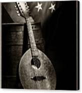 Mandolin America Antique Canvas Print
