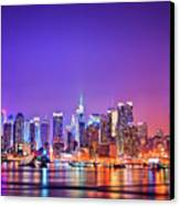Manhattan Lights Canvas Print by Matthias Haker Photography