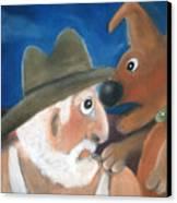 Mans Best Mate Canvas Print