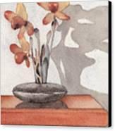 Mantel Flowers Canvas Print