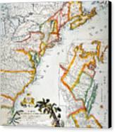 Map Of America, 1779 Canvas Print