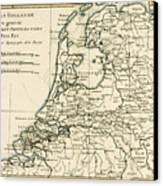 Map Of Holland Including The Seven United Provinces Of The Low Countries Canvas Print