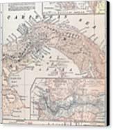 Map: Panama, 1907 Canvas Print