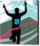 Marathon Race Victory Canvas Print by Aloysius Patrimonio