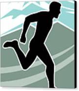 Marathon Runner Canvas Print by Aloysius Patrimonio