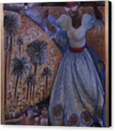 Mardi Gras Megillah Canvas Print by Barbara Nesin