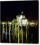Maria Della Salute In Venice At Night Canvas Print