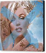 Marilyn 127 Tryp Canvas Print by Theo Danella