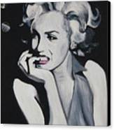 Marilyn Monroe Portrait Canvas Print by Mikayla Ziegler