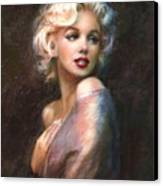 Marilyn Romantic Ww 1 Canvas Print by Theo Danella