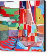Marina Abstract  Acrylics Paintings Canvas Print by Therese AbouNader