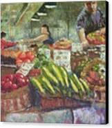 Market Stacker Canvas Print