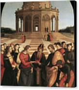 Marriage Of The Virgin - 1504 Canvas Print