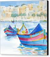Marsaxlokk Bay Canvas Print