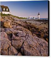 Marshal Point Light Sunset Canvas Print by Susan Cole Kelly