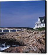 Marshall Point Light Canvas Print by Skip Willits