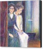 Martha And Mary Canvas Print by Laurie Parker