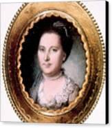 Martha Washington 1731-1802, First Lady Canvas Print by Everett