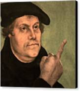 Martin Luther  Finger Canvas Print