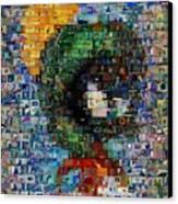 Marvin The Martian Mosaic Canvas Print