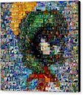 Marvin The Martian Mosaic Canvas Print by Paul Van Scott
