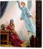 Mary And Angel Canvas Print
