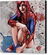Mary Jane Parker Canvas Print by Pete Tapang