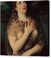 Mary Magdalene Canvas Print by Titian