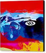 Maserati On The Race Track 1 Canvas Print