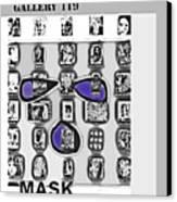 Mask Post Card Canvas Print