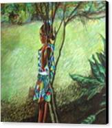 Massiel Canvas Print by Yxia Olivares
