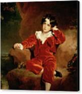 Master Charles William Lambton Canvas Print by Sir Thomas Lawrence