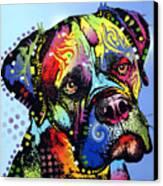 Mastiff Warrior Canvas Print