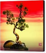 Math Pine 1 Canvas Print by GuoJun Pan